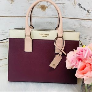 Kate spade Cameron medium cherrywood satchel NWT
